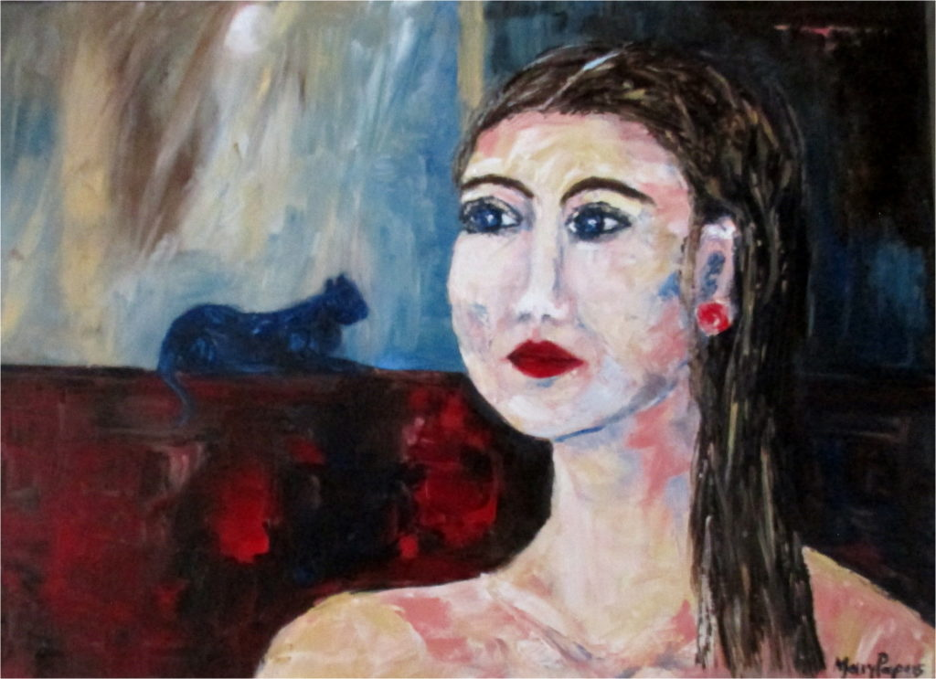girl-with-blue-cat-bold-style-colour-palette-knife-textured-art-contemporary-painting