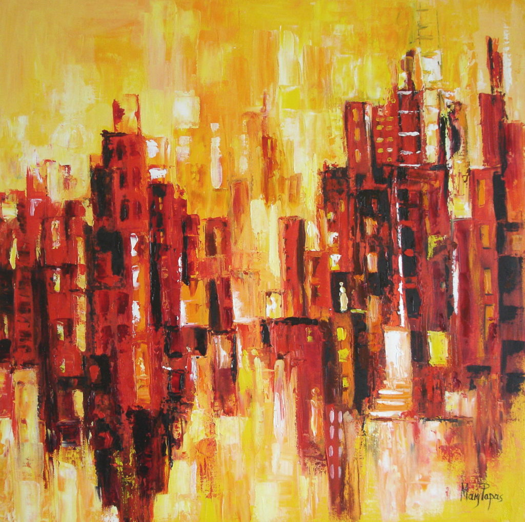 heartbeat-of-the-city-palette-knife-textured-art-abstract-painting