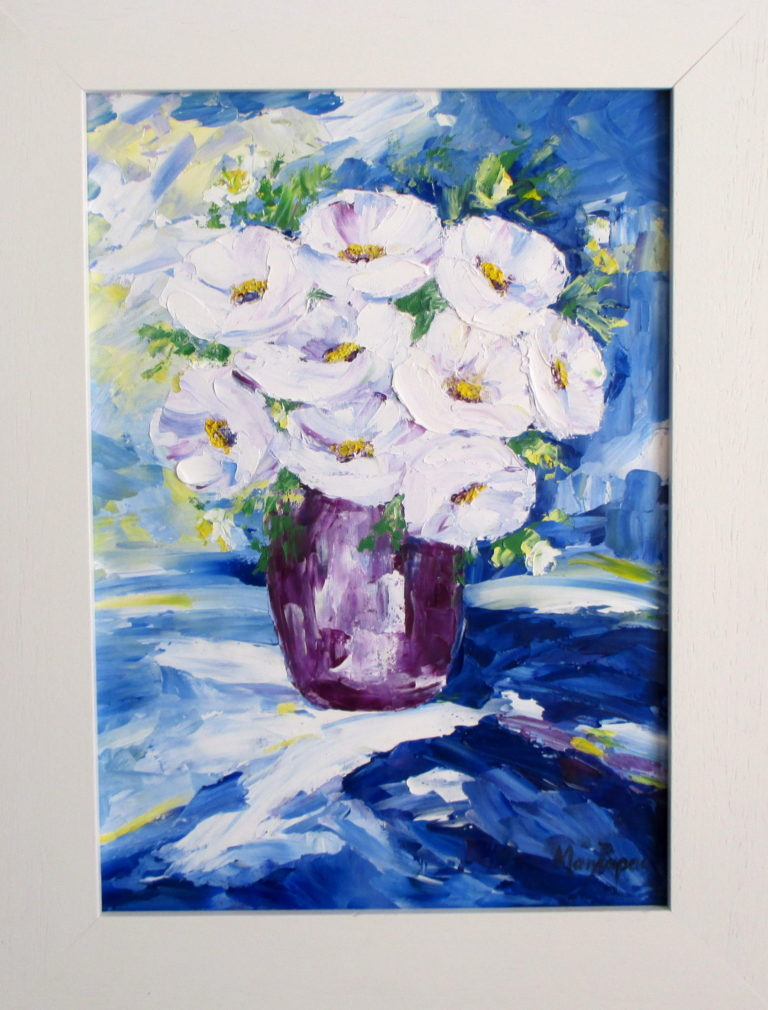 white-blooms-in-vase-palette-knife-textured-country-art-painting