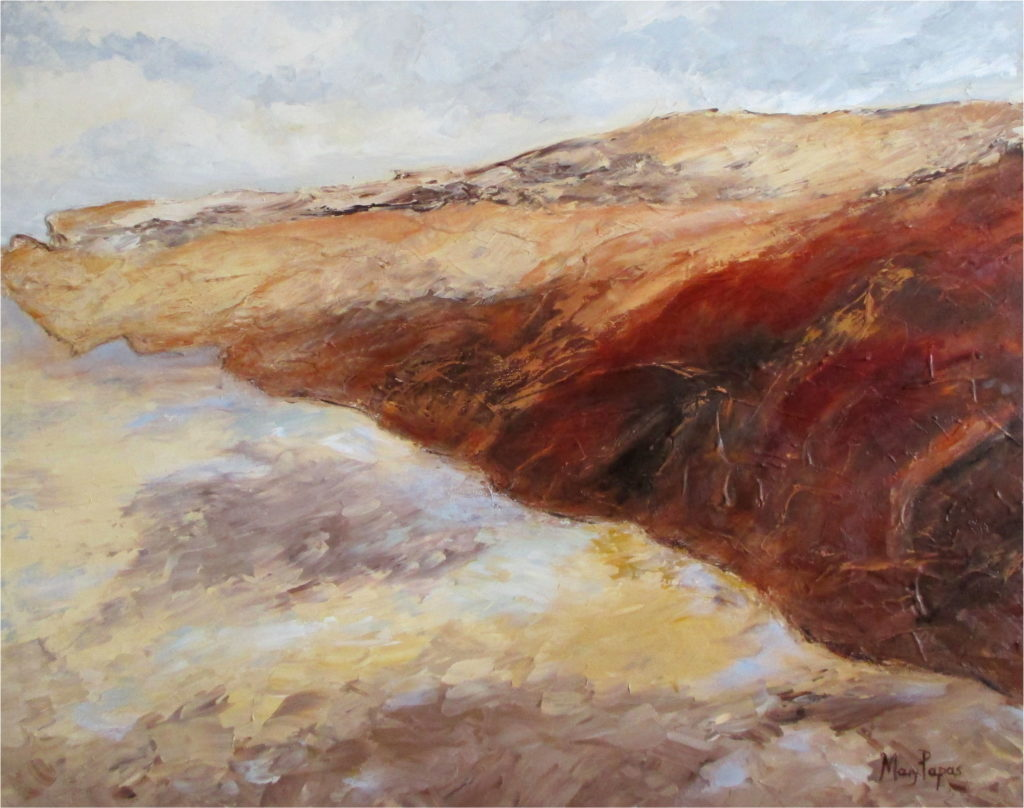 Coastline-palette-knife-textured-art-abstract-painting-environmental-destruction